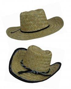 Cowboyhut aus Stroh