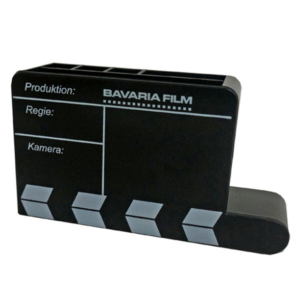 \'Bavaria Film\' Stiftehalter in Filmklappen-Optik