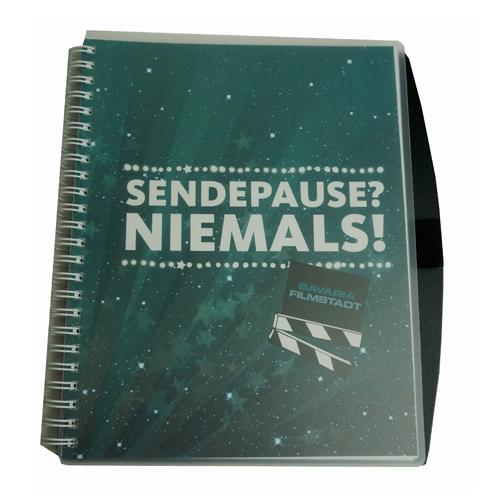 Bavaria Filmstadt Notizbuch