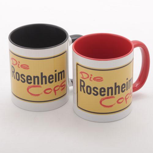 Die Rosenheim Cops Tasse rot und schwarz