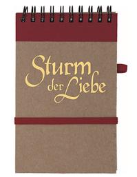\'Sturm der Liebe\' Notizblock mit Kuli